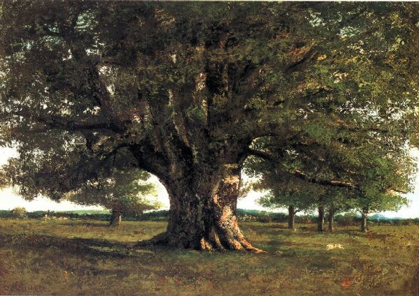 Courbet, Gustave: The Oak of Flagey, called Vercingetorix. Fine Art Print/Poster. Sizes: A4/A3/A2/A1 (001045)